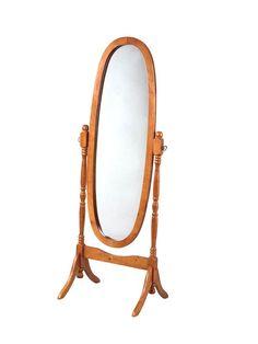 Powell Oak Cheval Mirror - pack 1
