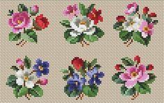 (5) Gallery.ru / Foto n. ° 133 - pequeños esquemas pequeños - pustelga Stitch Cartoon, Needlepoint, Hand Embroidery, Cross Stitch Patterns, Kids Rugs, Beads, Flowers, Gifts, Crochet Flowers
