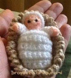 Baby Jesus, Cool Toys, Crochet Patterns, Minis, Christmas, Angeles, Crochet Angels, Holiday Crochet, Waldorf Dolls
