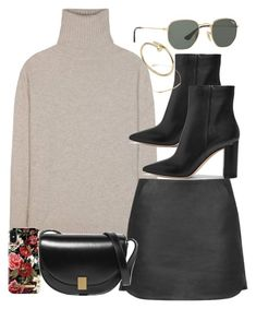 """""""Sin título #4576"""" by hellomissapple ❤ liked on Polyvore featuring Jardin des Orangers, Topshop, Gianvito Rossi, iDeal of Sweden, Victoria Beckham, Ray-Ban and Djula"""