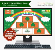 St Patricks Day Games Virtual St Patricks Day Trivia Games PC /& Mac with SCOREBOARD St Patricks Jeopardy St Patricks Zoom Games
