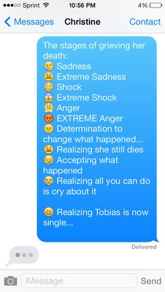 WARNING: Spoiler for the ending of the Divergent Series!!!  The stages of grieving Tris' death.
