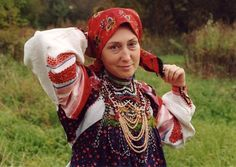 A Russian folk costume
