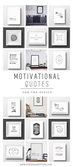 Motivational quotes for the office! Every day inspiration for your desk or walls! Hand printed on fabric. Elegant with a vintage touch, by My Home and Yours. Office Motivational Quotes, Office Quotes, Boost Creativity, Work Motivation, Life Thoughts, Optimism, The Office, Printing On Fabric, Design Inspiration