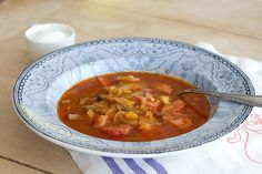 (This recipe was originally posted in December 2006. Fully updated in May 2012).     Here's a recipe for a soup that must have frequentl...