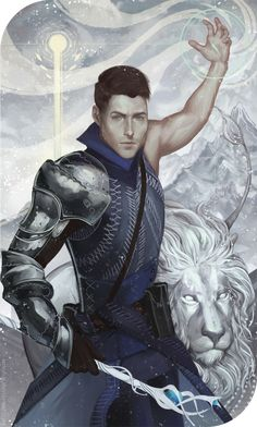 The commission card. Dragon Age Inquisition | Inquisitor Auron Trevelyan | Knight-Enchanter The Strength Tumblr • Twitter