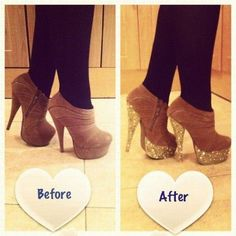 Before after by glitter shoes