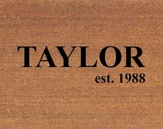 "Personalized Custom Name Door Mat - Coir Doormat Rug - 2' x 2' 11"" (24 Inches x 35 Inches) - Welcome Mat - Housewarming Gift"