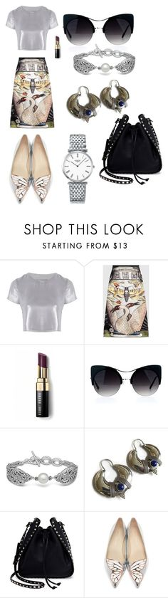 """Shine On"" by aqualyra ❤ liked on Polyvore featuring Related, Gucci, Bobbi Brown Cosmetics, Lazuli, Valentino, Sophia Webster, Longines, whimsical and Eclectic"