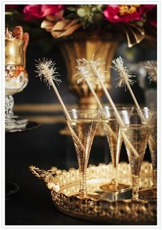 sparkly party drinks