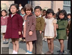 First graders pictured at a flag-pledge ceremony at Raphael Weill Public School, San Francisco, 20 April 1942   Source: http://i.imgur.com/Zor5iKX.png