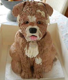 Its a great cake but I'm sorry I just couldn't eat that. I couldn't eat a dog
