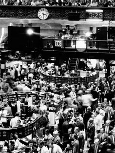 Trading Floor Of The New York Stock Exchange On August 16, 1971  Photographic Print