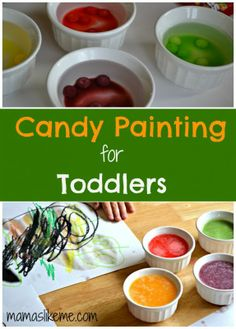Mamas Like Me: Candy Painting for Toddlers