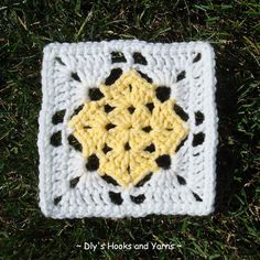 free square in square crochet pattern