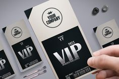 Stylish simple VIP PASS by Tzochko on @creativemarket