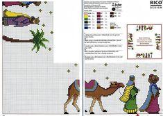 Xmas Cross Stitch, Cross Stitch Borders, Cross Stitching, Cross Stitch Embroidery, Cross Stitch Patterns, Christmas Cross, Christmas Deco, Three Wise Men, Rico Design