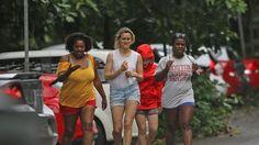 Taylor Schilling, Uzo Aduba, Yael Stone and Adrienne C Moore in Hawaii - December 2015