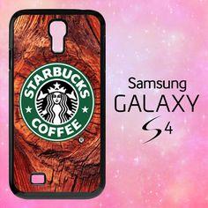 S1002 WOOD PRINT STARBUCKS Samsung Galaxy S4 case | BirlynaCase - Accessories on ArtFire
