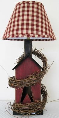 STAR LAMP Wood Lamp, Lamp, Primitive Lamp. $54.99