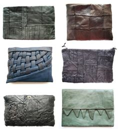 these worn in leather clutches are so unique