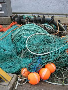 Fishing nets on the pier at Uig, Isle of Skye     #fishing  Click the on the pic for more info.  http://www.bamboonets.com