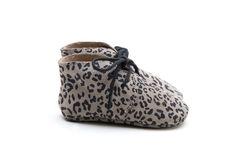Mockies classic boots leopard Babyshoes