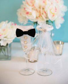 Faça você mesma: Taças personalizadas para casamento