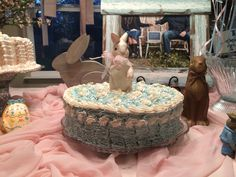 Baby shower cake. It was for my adoption. We did pink and blue with bunny rabbits.