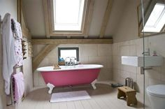 I love rooms in the roof - look at that oak frame!