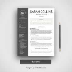 Templates For Resumes Word Mesmerizing Resume Template For Ms Word  Template And Boutique Design
