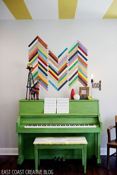 Green Painted Piano {Annie Sloan Chalk Paint} - East Coast Creative Blog