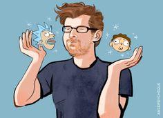 Justin Roiland, Rick and Morty Good Cartoons, Adult Cartoons, Cartoon As Anime, Cartoon Shows, Ricky Y Morty, Rick And Morty Time, Rick And Morty Characters, Gotham, Justin Roiland