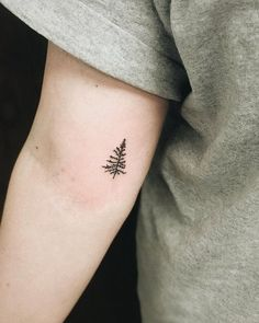 Keep things simple with these classy tiny tree tattoo.