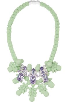 Ek Thongprasert|Silicone and cubic zirconia necklace|NET-A-PORTER.COM