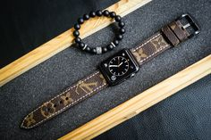 LV Straps cut from Authentic Louis Vuitton Old Bags Custom Made for Apple Watch, Panerai, SevenFriday    You can choose from Monogram Canvas, Damier Azure Canvas, Damier Ebene Canvas    Custom Made for any size or any watch available : Size 20mm ,2...