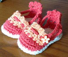 Baby Booties Sandals Espadrilles Crochet Pattern PDF 12-113
