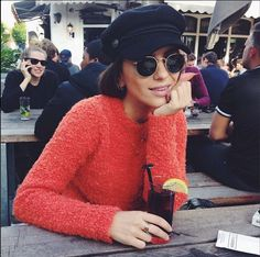 Lizzy van der Ligt wearing the Ganni A/W 14 Elle knit sweater