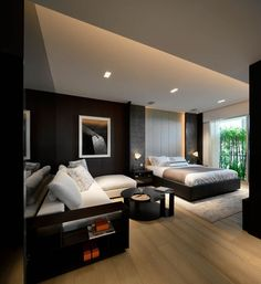 bedroom pay attention to artificial lighting - Modern Bad Room