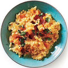 Butternut Squash Risotto recipe.  In my new October Cooking Light.  Making this for dinner tomorrow.  I love fall.