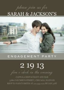 Mixbook Classic Engagement Party Engagement Party Invitations