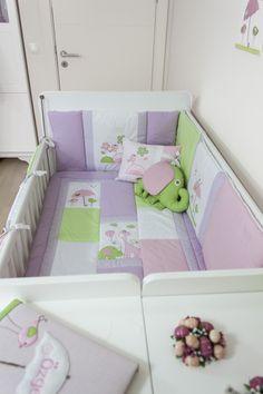 Kuşlu bebek odası uyku seti / Baby bedding set