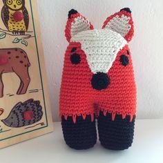 Bice la volpe gentile - pupazzo per bambini all'uncinetto - animale di pezza - doudou crochet - amigurumi - soft toy di FaccioRifaccio su Etsy