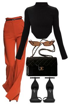 A fashion look from april 2018 featuring curved hem top, ankle strap heel s Mode Outfits, Fall Outfits, Fashion Outfits, Womens Fashion, Dress Fashion, Classy Outfits, Stylish Outfits, Elegantes Outfit, Looks Chic