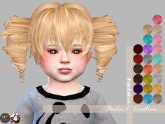 Studio K Creation: Animate hair 41-Akane hair  - Sims 4 Hairs - http://sims4hairs.com/studio-k-creation-animate-hair-41-akane-hair/