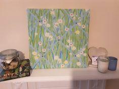 Fabric Memo Board - Prestigious Textiles 'SPRING DAISY' fabric - Notice Board £25.00