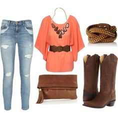 Country Girl Style rebekah I love this look so much. Country Girls Outfits, Country Girl Style, Country Fashion, Love Fashion, Passion For Fashion, Country Chic, South Country, Style Fashion, Fall Outfits