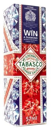 Tabasco Pepper Sauce adds sparkle to Queen's Jubilee The limited edition Tabasco Pepper Sauce Diamond Jubilee pack is soon to hit the shelves. Food Packaging, Packaging Design, Tabasco Pepper, Limited Edition Packaging, Food Plus, Some Like It Hot, Save The Queen, Special Recipes, Union Jack