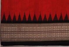 Handloom Sarees | Buy orissa handloom traditional Maroon Body- bomkai and ikat work designer saree online
