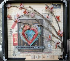 @7gypsies 12x12 Shadow Box by: @Vicki Boutin